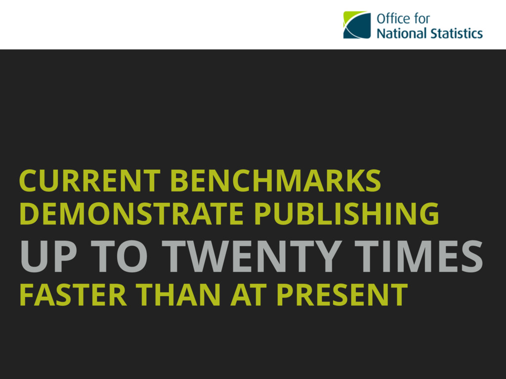 CURRENT BENCHMARKS DEMONSTRATE PUBLISHING UP TO...