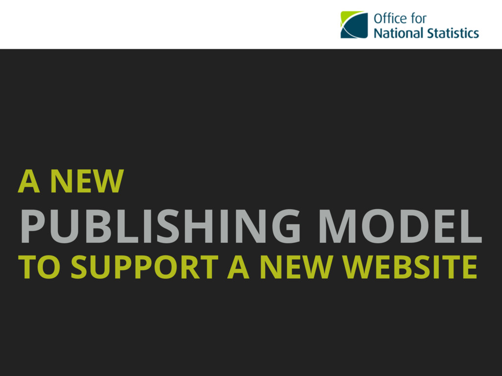 A NEW PUBLISHING MODEL TO SUPPORT A NEW WEBSITE
