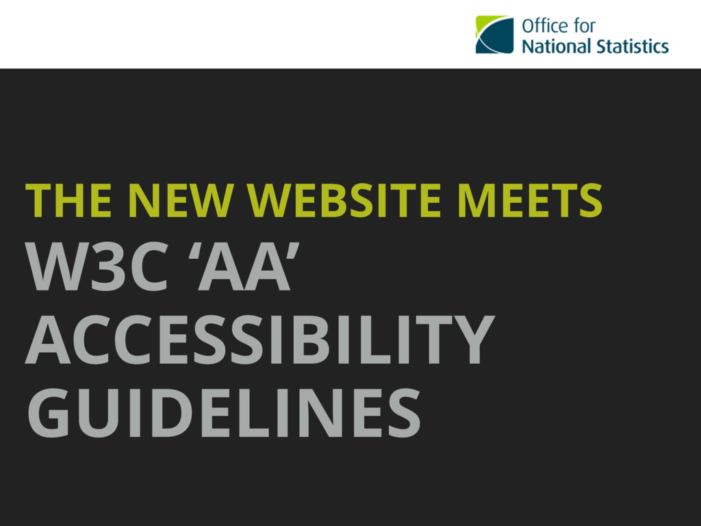 THE NEW WEBSITE MEETS W3C 'AA' ACCESSIBILITY GU...