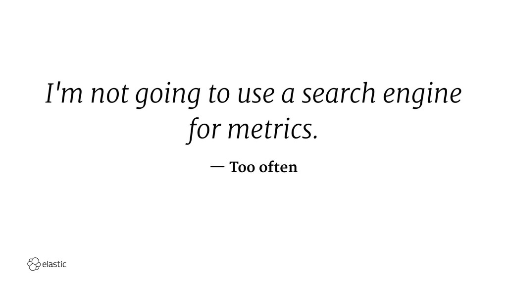 I'm not going to use a search engine for metric...