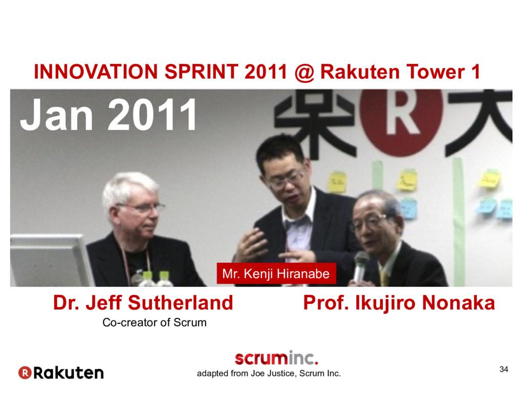 34 Jan 2011 Dr. Jeff Sutherland Prof. Ikuji...