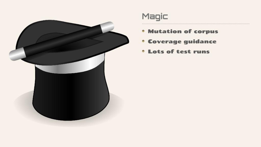 Magic Mutation of corpus Coverage guidance Lots...