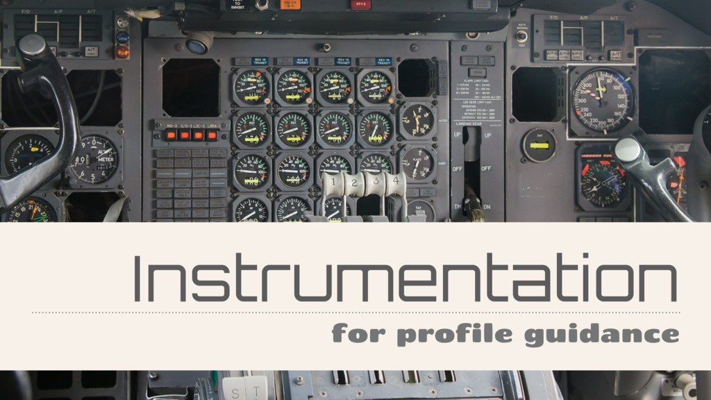 Instrumentation for profile guidance