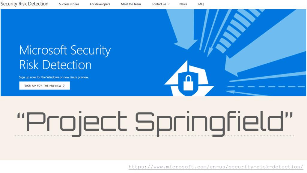 """Project Springfield"" https://www.microsoft.com..."