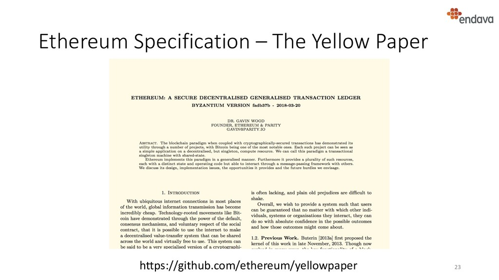Ethereum Specification – The Yellow Paper 23 ht...