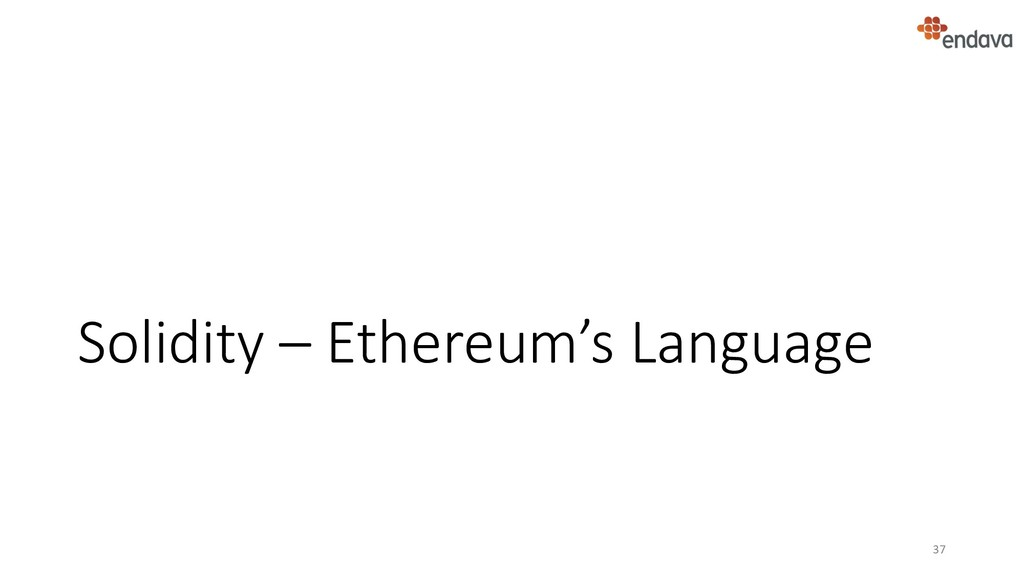 Solidity – Ethereum's Language 37