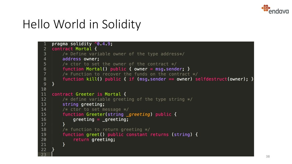 Hello World in Solidity 38