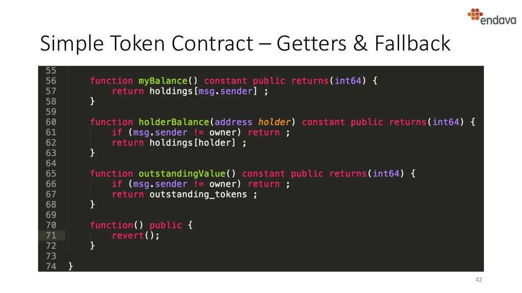 Simple Token Contract – Getters & Fallback 42