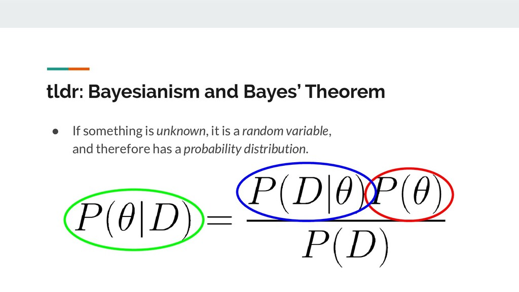 tldr: Bayesianism and Bayes' Theorem ● If somet...