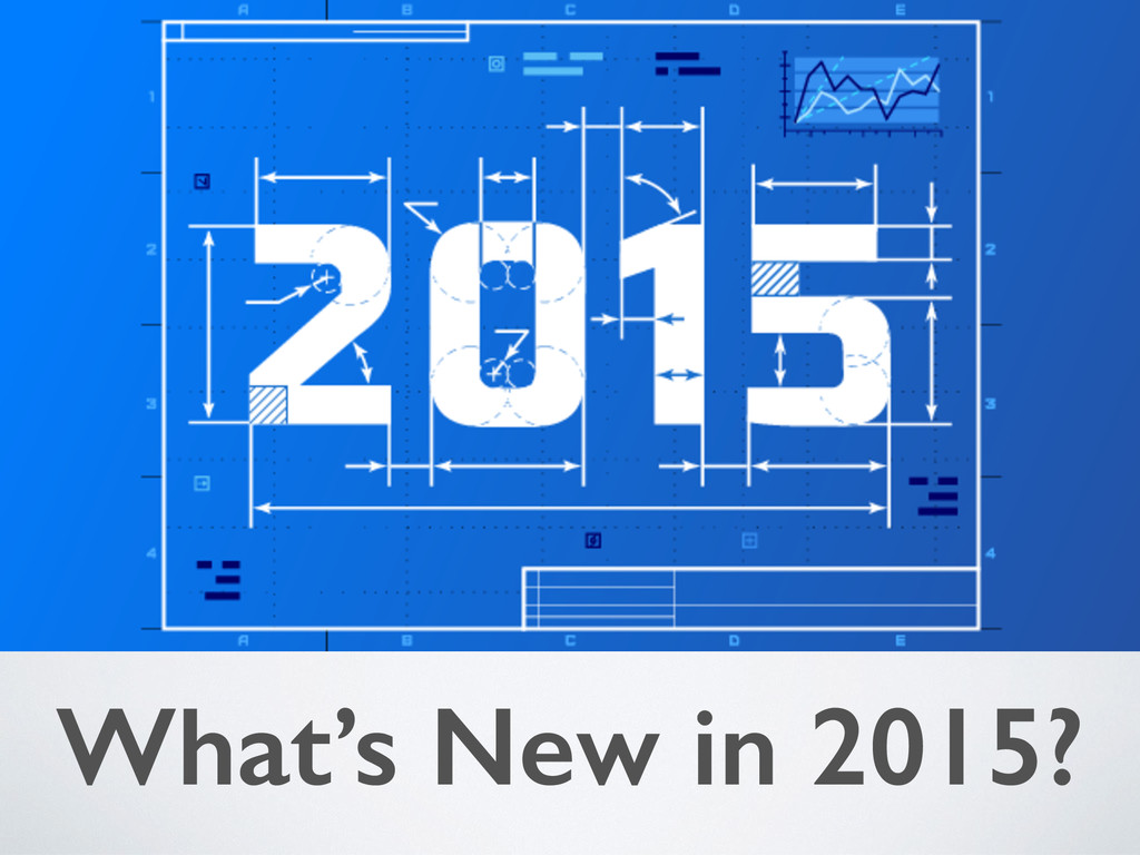 What's New in 2015?