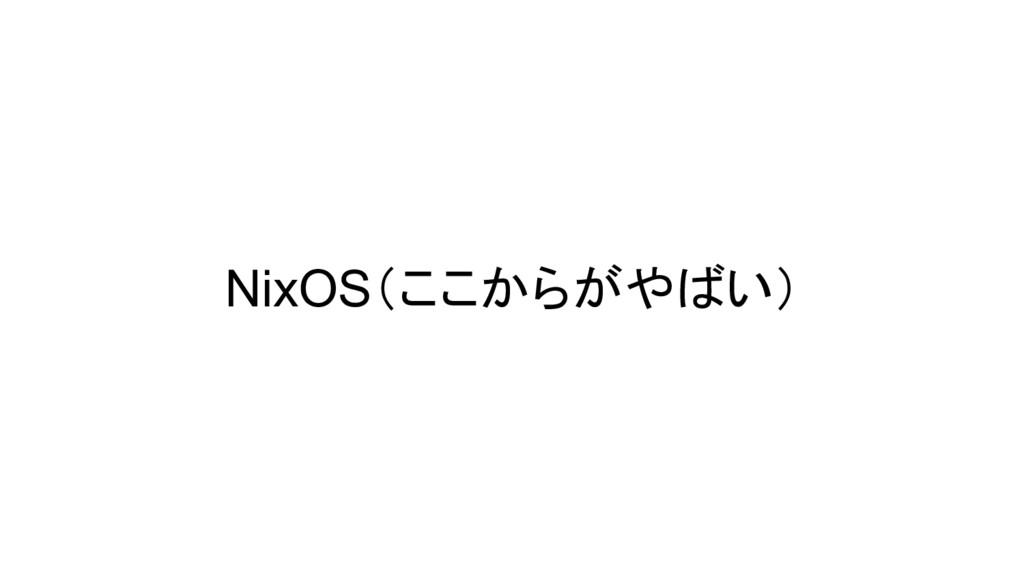 NixOS(ここからがやばい)