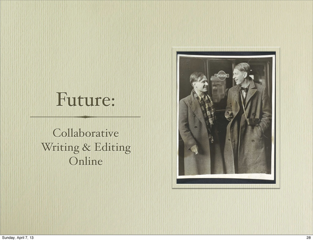 Future: Collaborative Writing & Editing Online ...