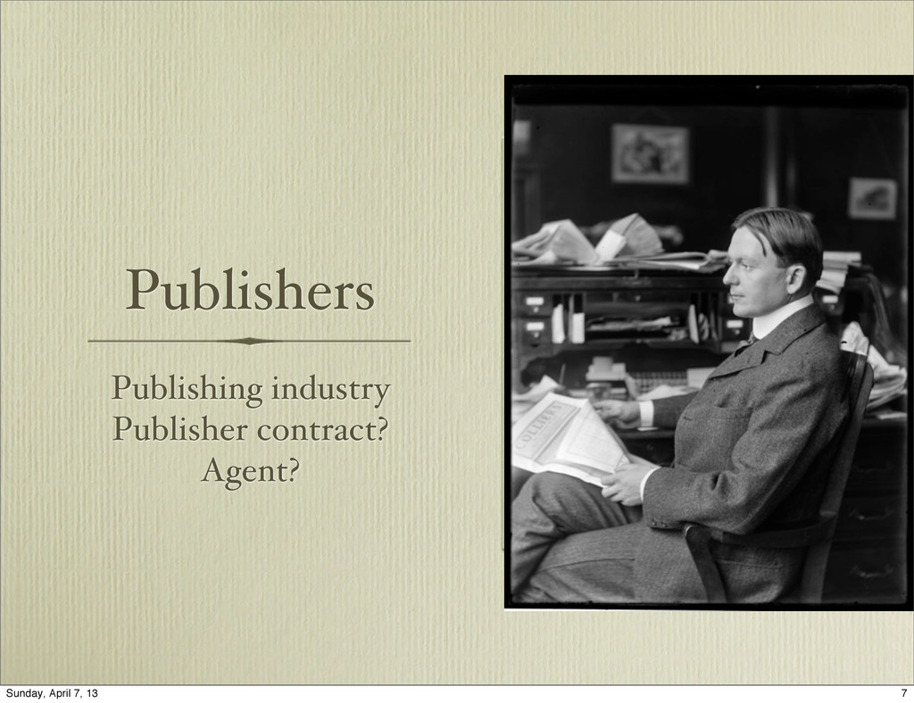 Publishers Publishing industry Publisher contra...