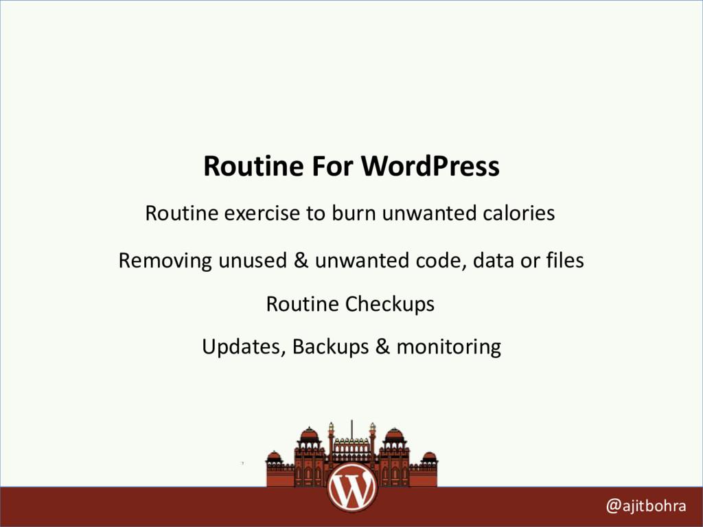 Routine For WordPress @ajitbohra Routine exerci...