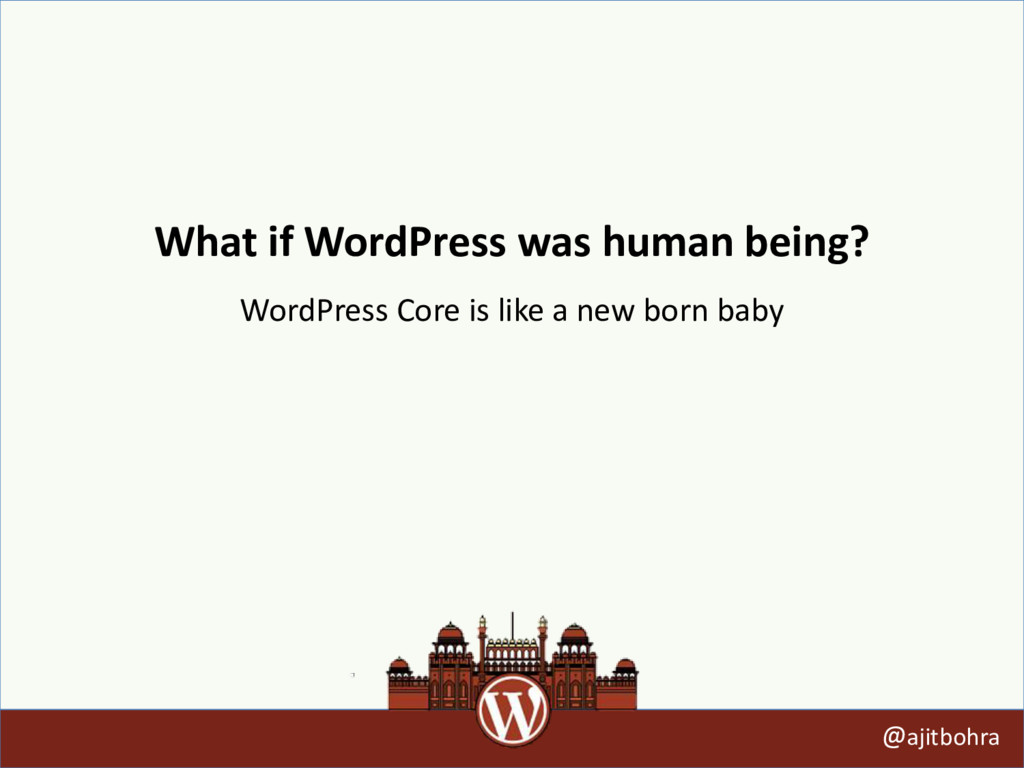 What if WordPress was human being? @ajitbohra W...