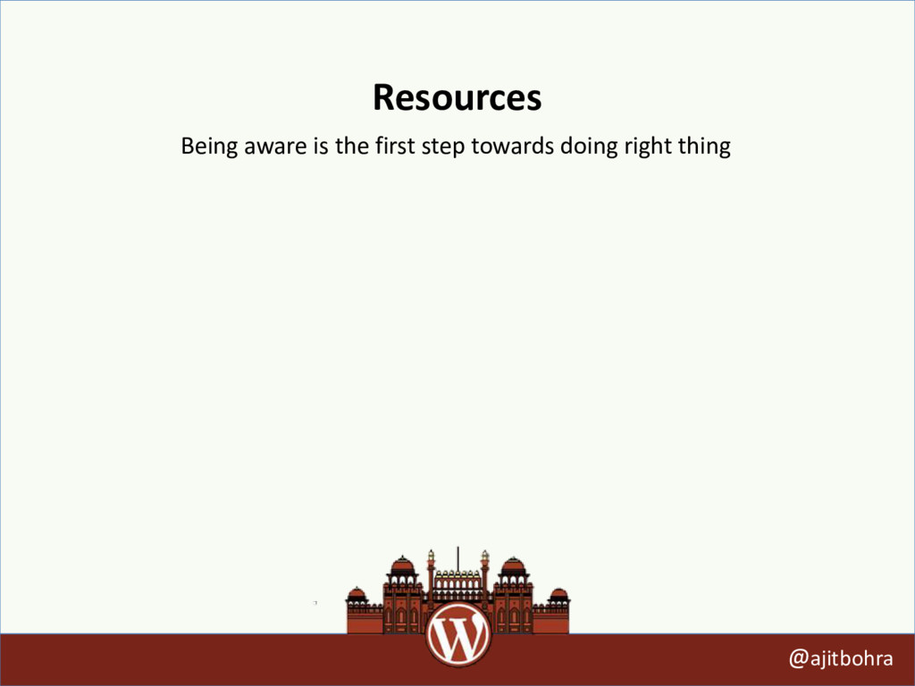Resources @ajitbohra Being aware is the first s...