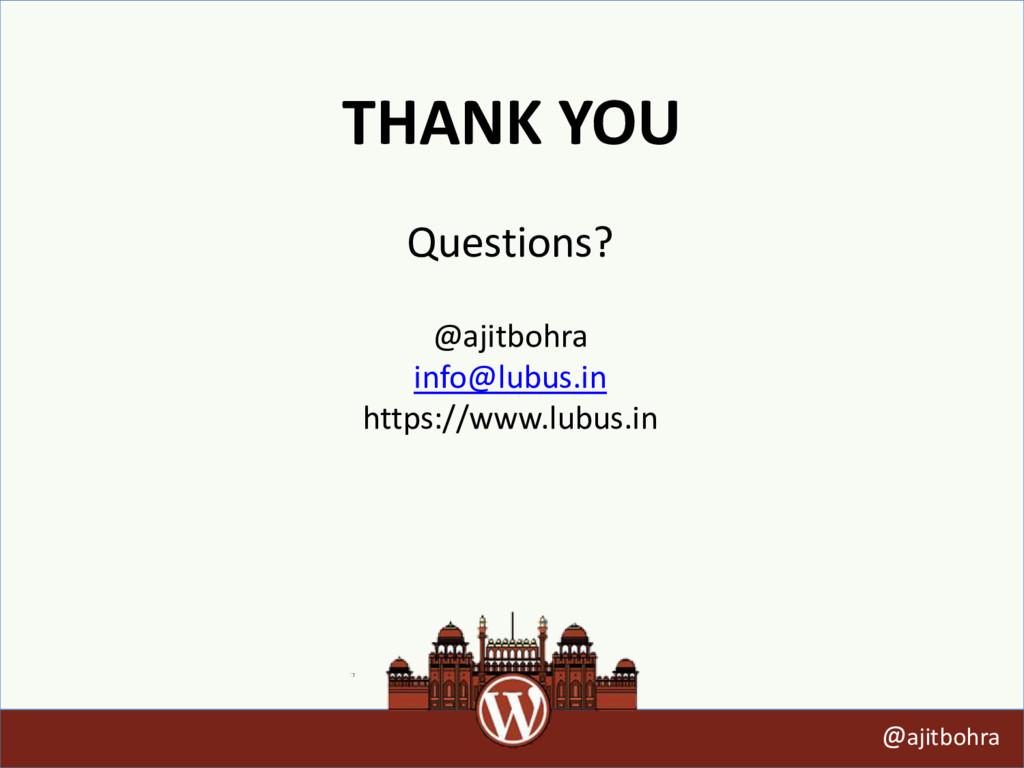THANK YOU @ajitbohra @ajitbohra info@lubus.in h...