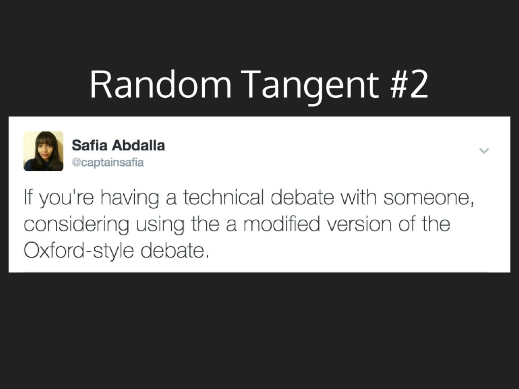 Random Tangent #2