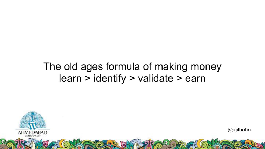 The old ages formula of making money learn > id...