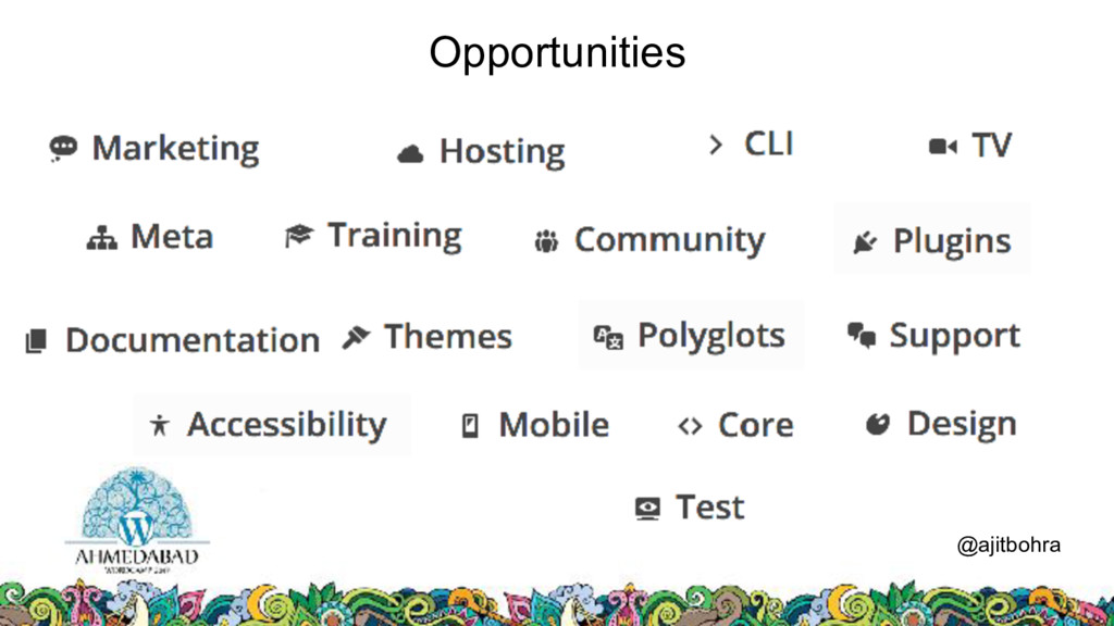 Opportunities @ajitbohra