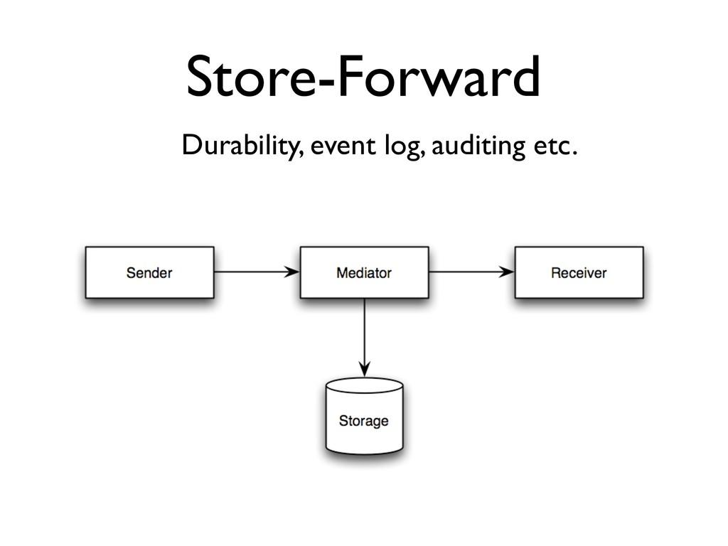 Store-Forward Durability, event log, auditing e...