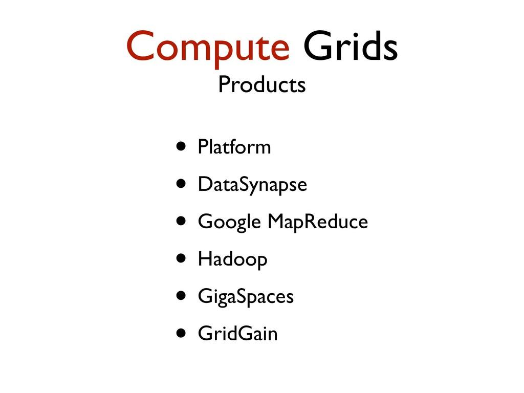 Compute Grids Products • Platform • DataSynapse...