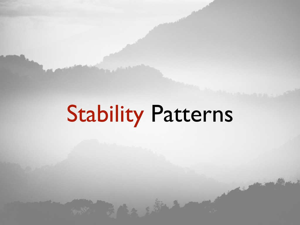 Stability Patterns