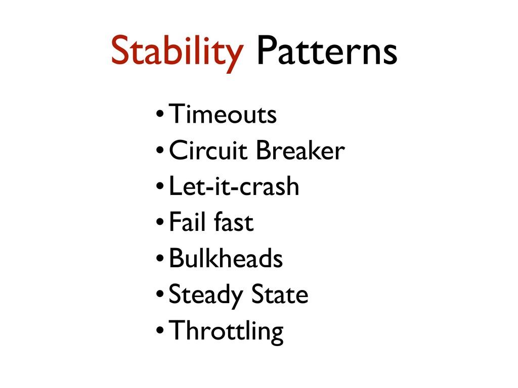 •Timeouts •Circuit Breaker •Let-it-crash •Fail ...