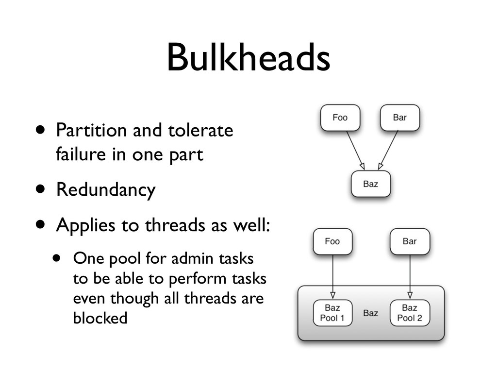 Bulkheads • Partition and tolerate failure in o...