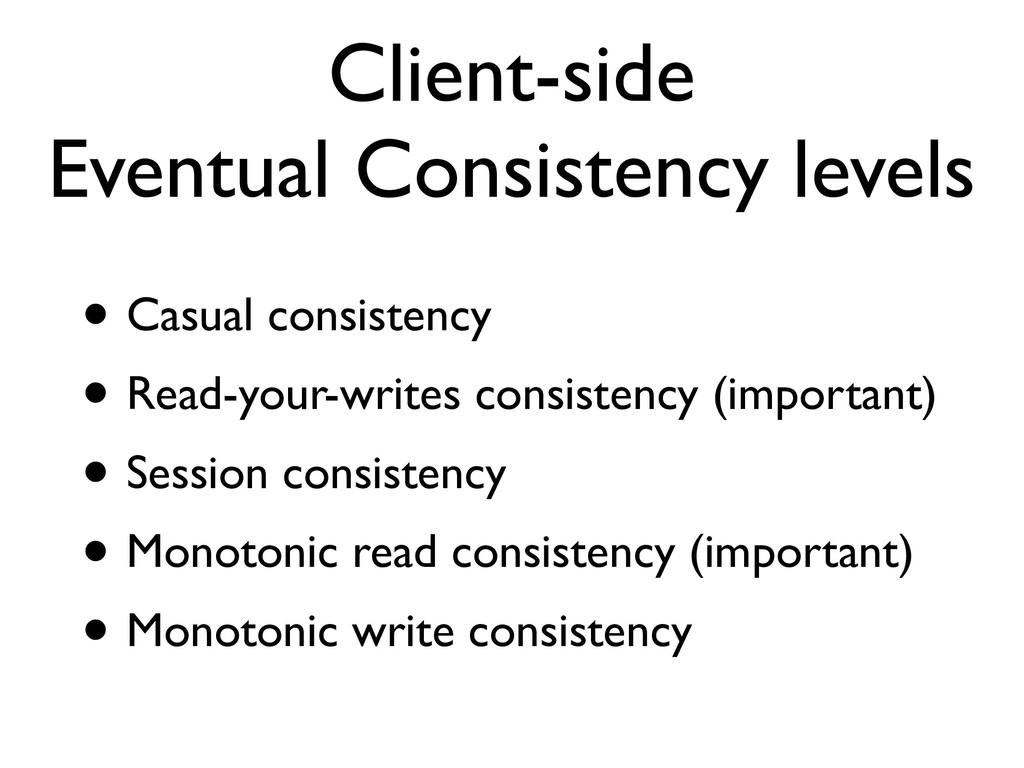 Client-side Eventual Consistency levels • Casua...