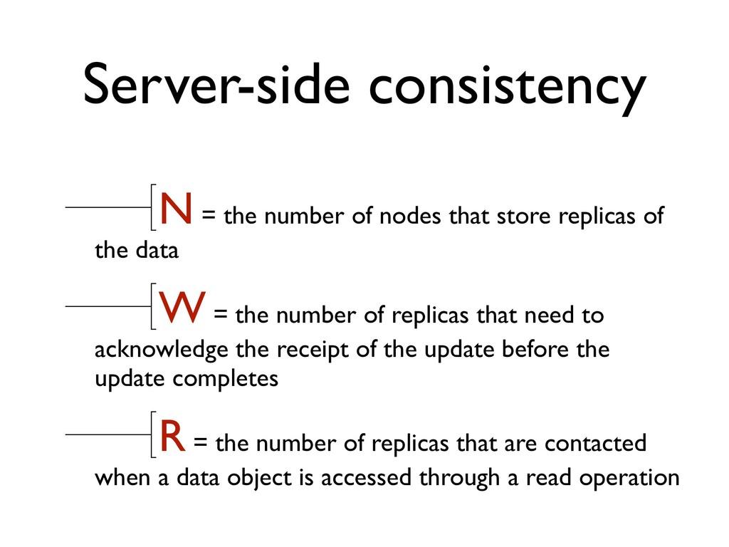 Server-side consistency N = the number of nodes...