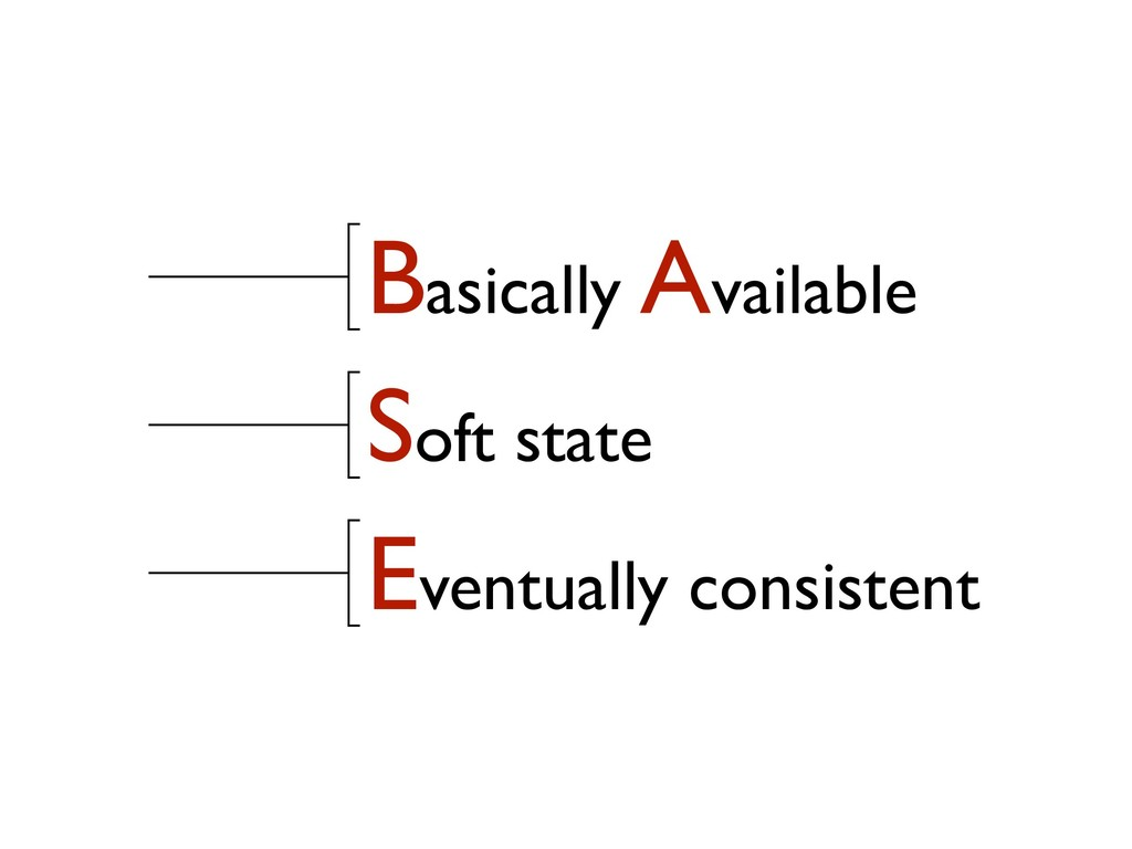 Basically Available Soft state Eventually consi...