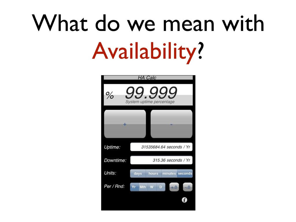 What do we mean with Availability?