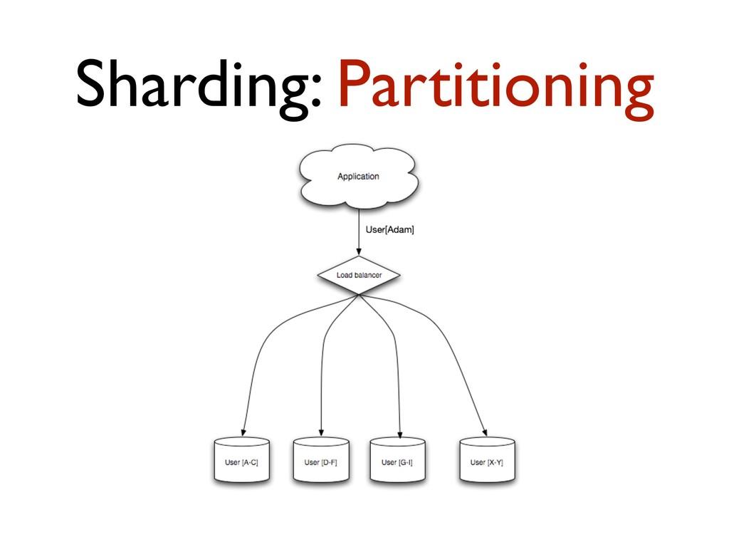 Sharding: Partitioning