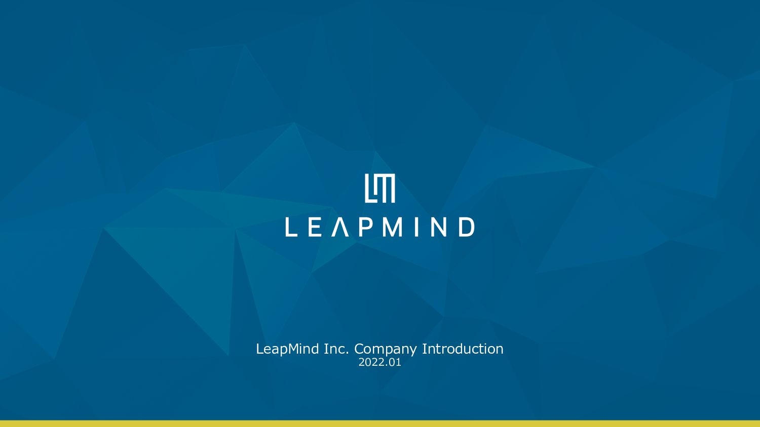LeapMind Inc. Company Introduction 2021.7