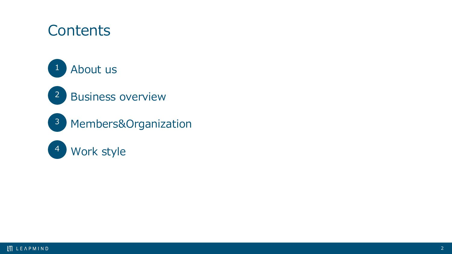 Contents About us Business overview Members&Org...