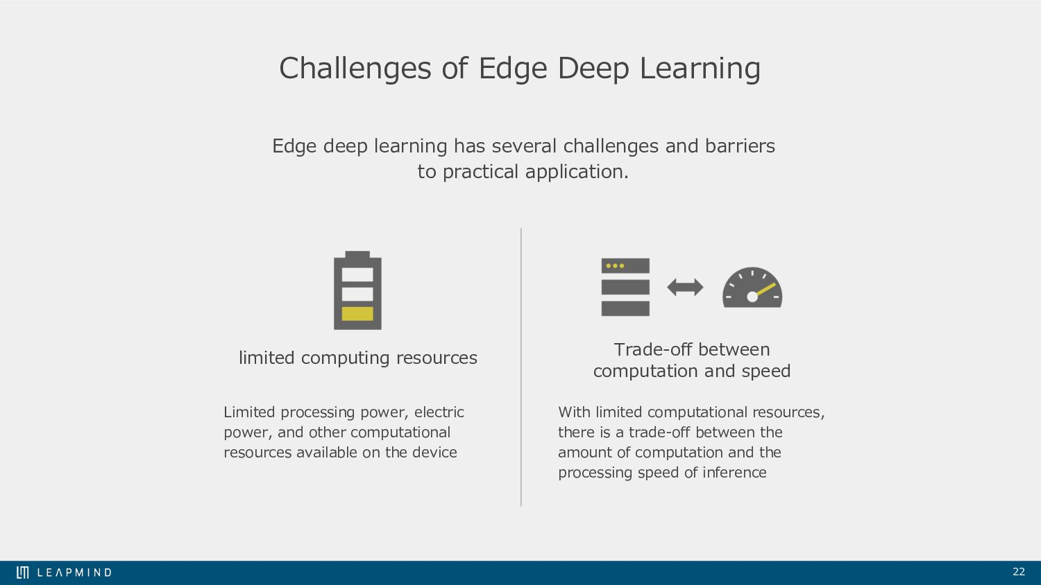 22 Challenges of Edge Deep Learning Edge deep l...