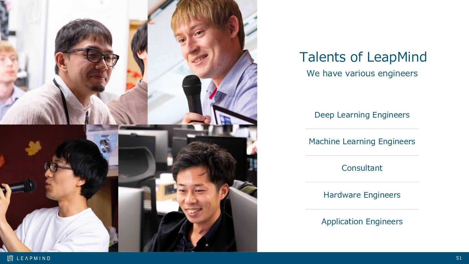 Talents of LeapMind Researcher Consultant Deep ...