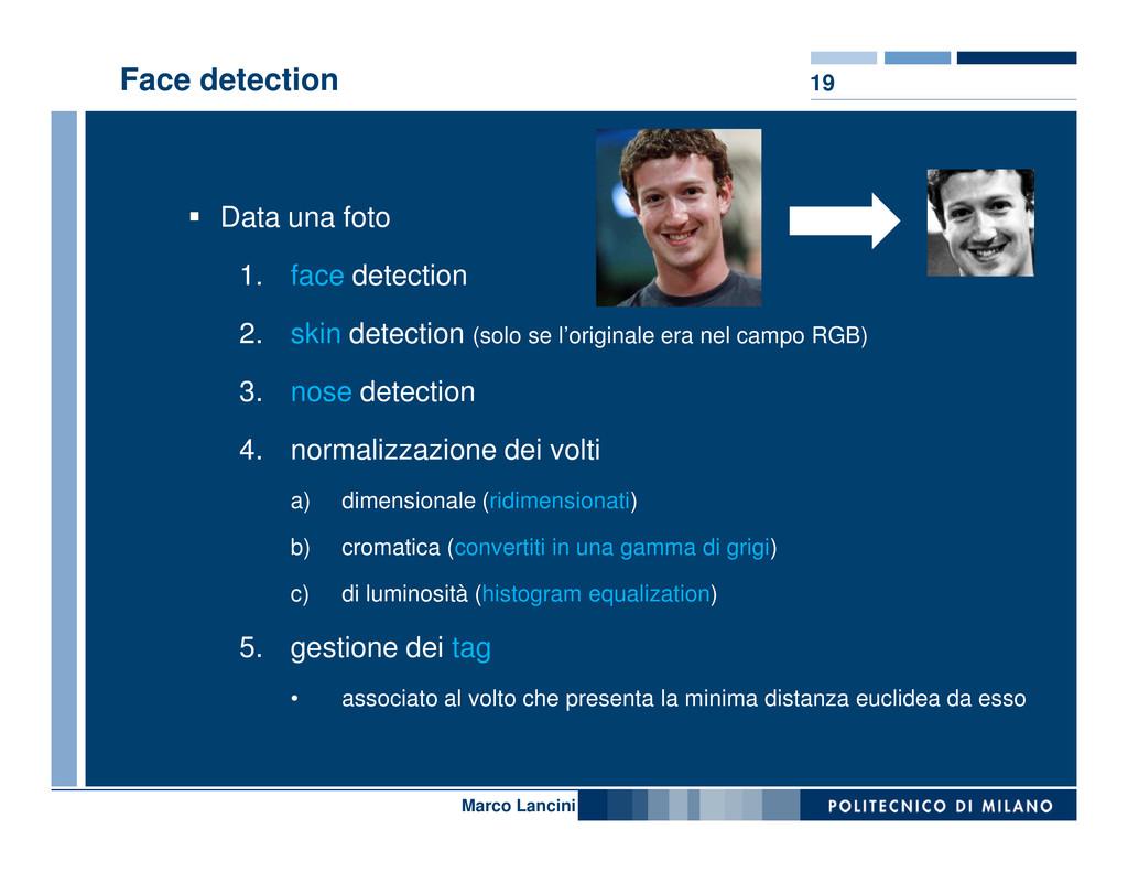 19 Face detection Data una foto 1. face detecti...