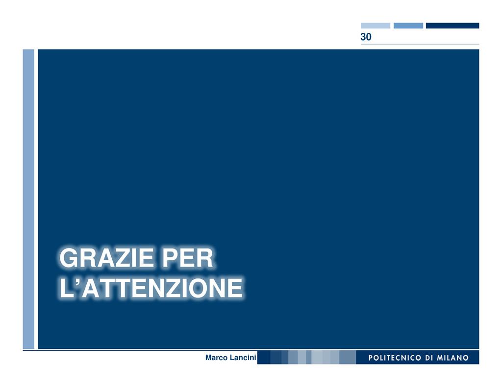 30 Nome relatore GRAZIE PER L'ATTENZIONE Marco ...