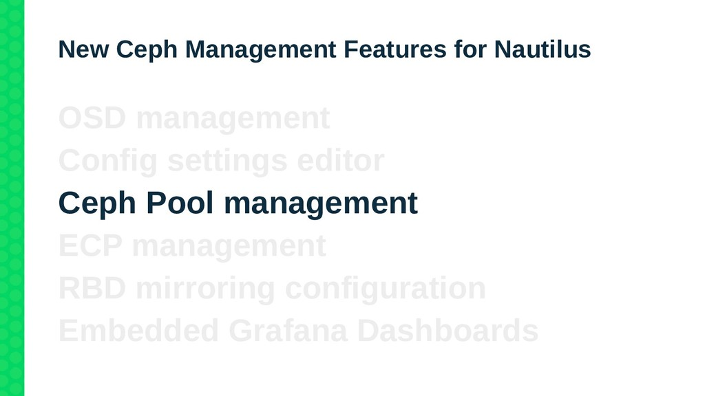 New Ceph Management Features for Nautilus OSD m...