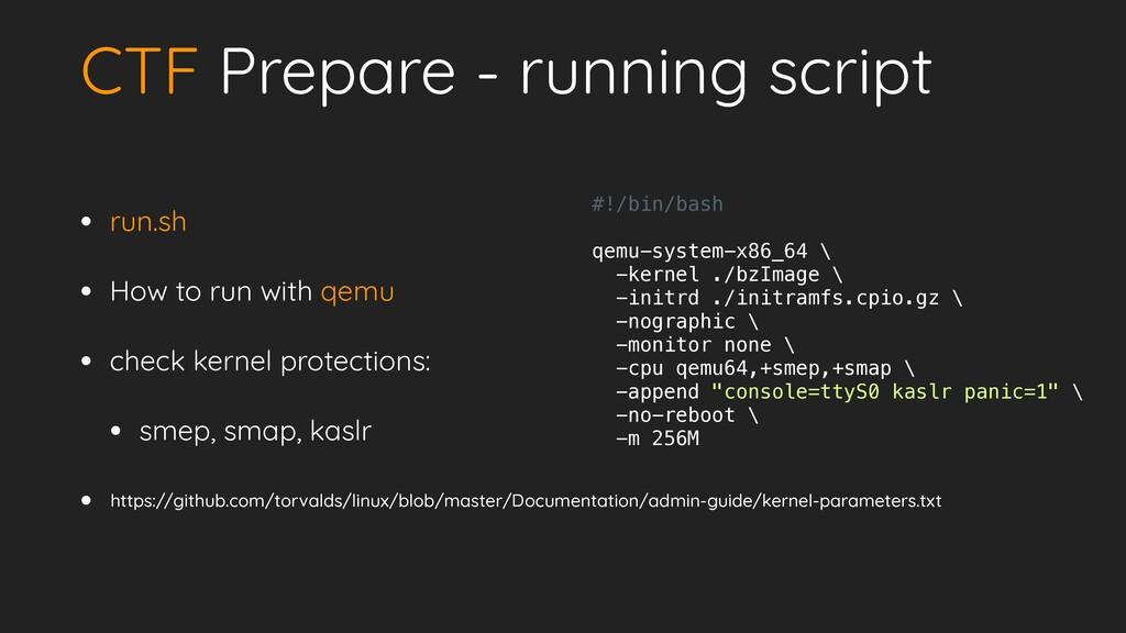 CTF Prepare - running script • run.sh   • How t...