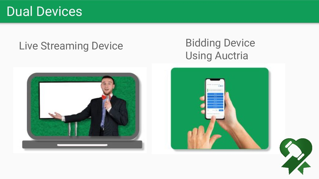 Dual Devices Live Streaming Device Bidding Devi...