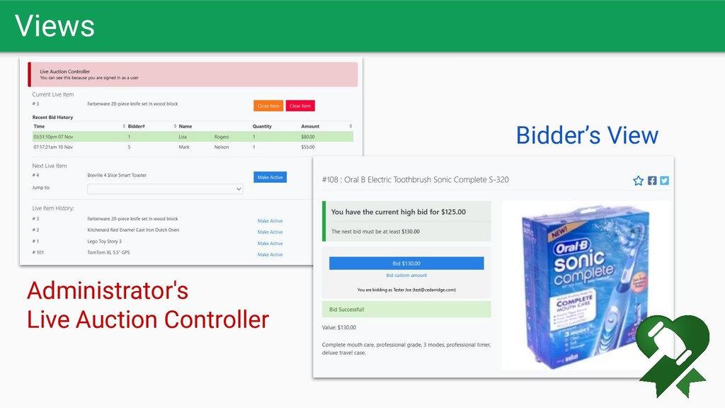 Views Administrator's Live Auction Controller B...