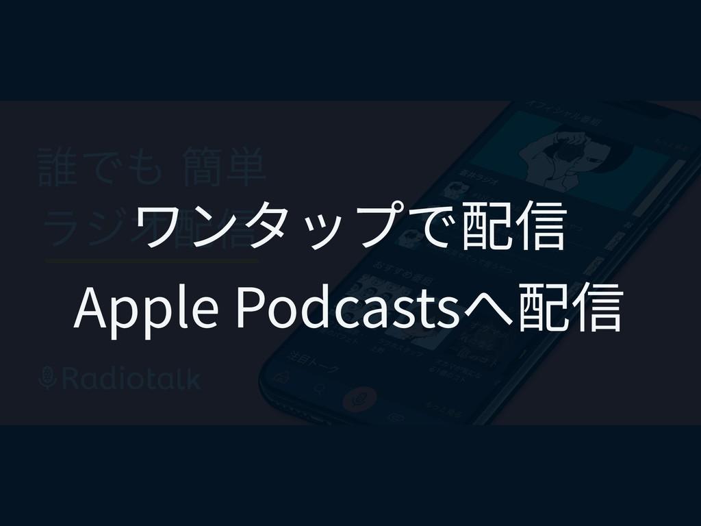 ワンタップで配信 Apple Podcastsへ配信
