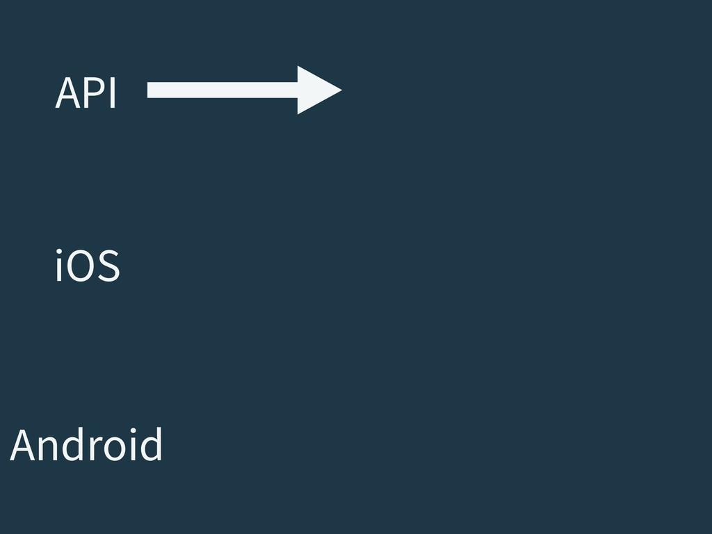 API iOS Android