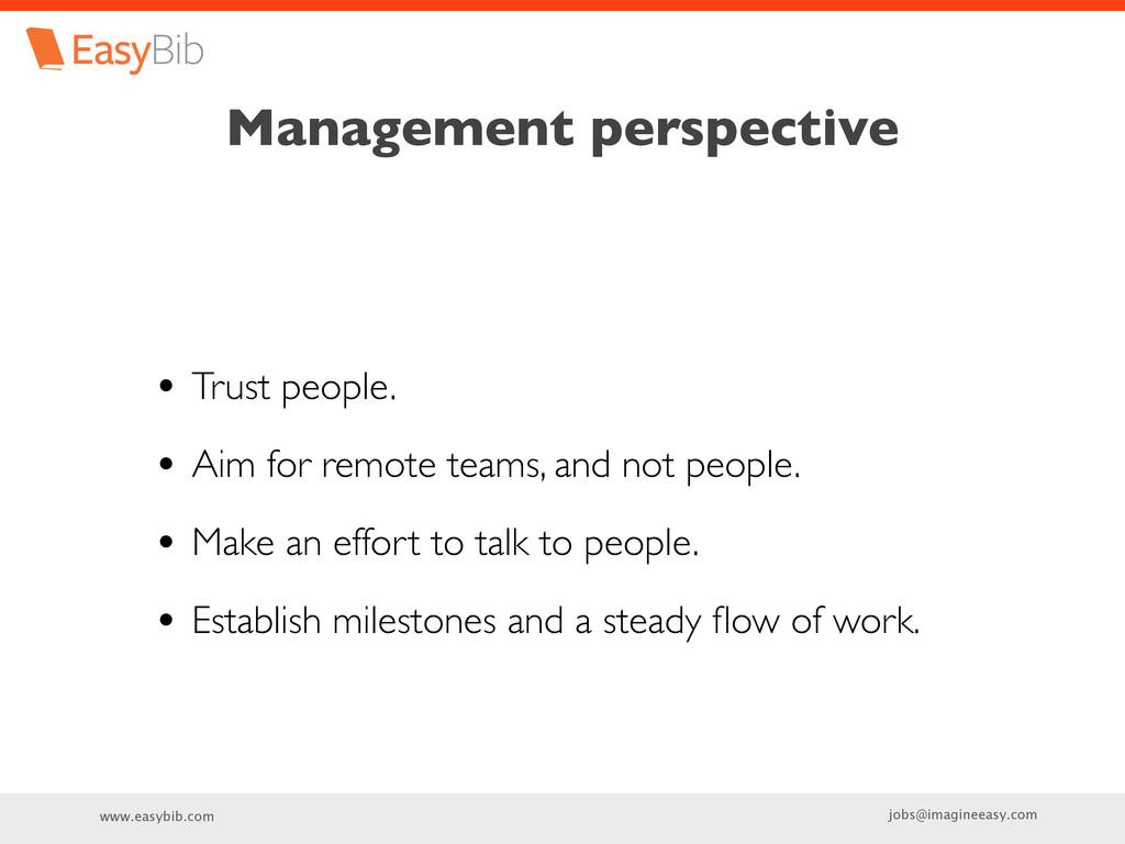 www.easybib.com jobs@imagineeasy.com Management...