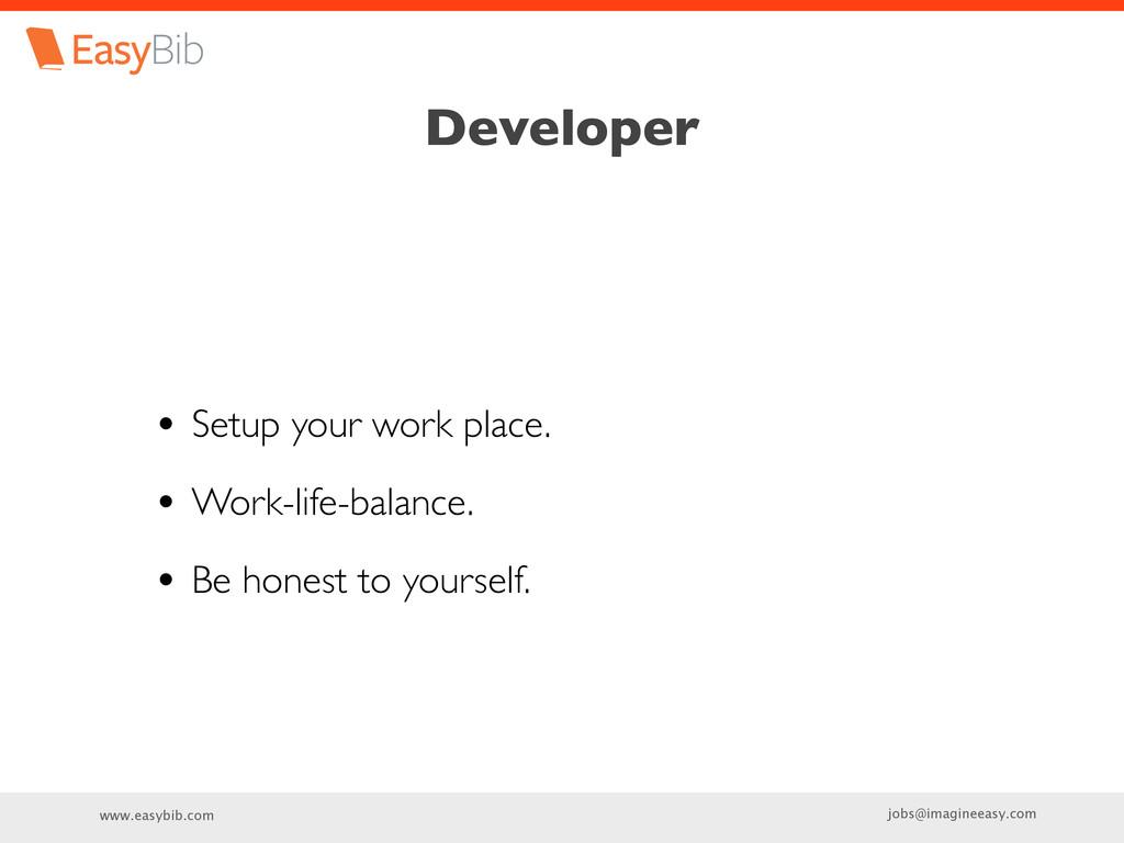 www.easybib.com jobs@imagineeasy.com Developer ...
