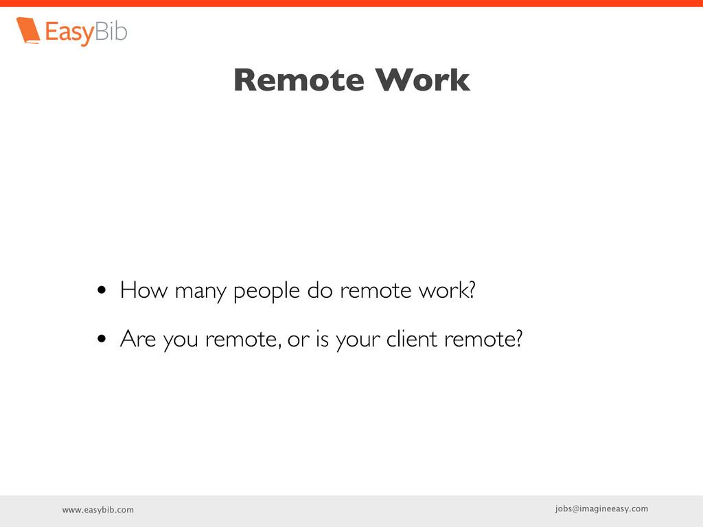 www.easybib.com jobs@imagineeasy.com Remote Wor...