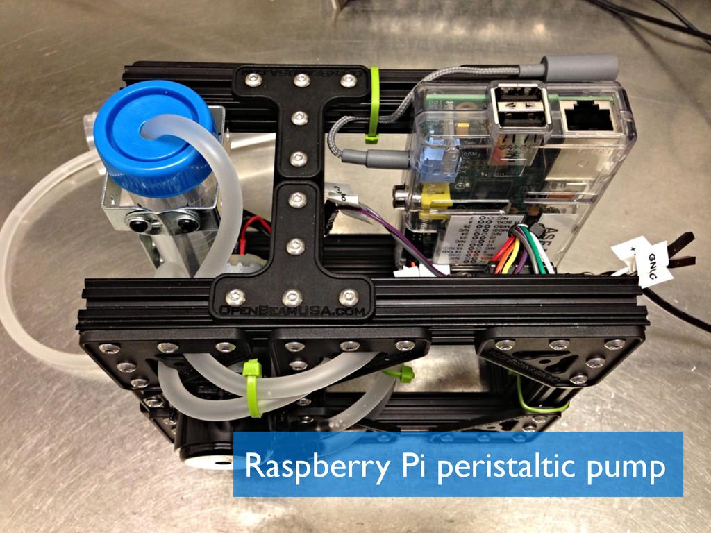 Raspberry Pi peristaltic pump